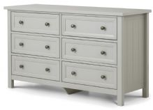 Maine Dove Grey 6 Drawer Wide Chest